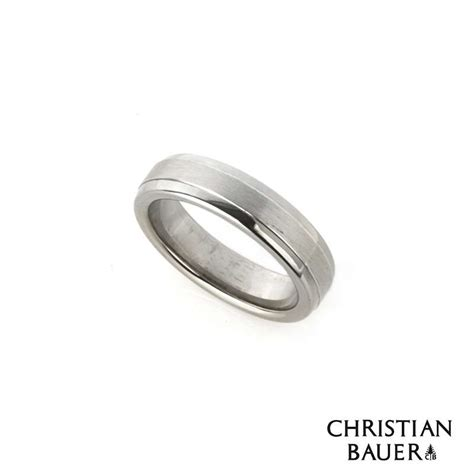 christian bauer 18k white gold platinum wedding band