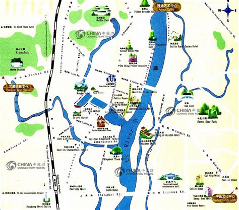 touristic map guilin tourist map china guilin tourist map guilin