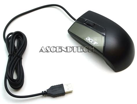 Mouse Acer Usb m uay acr2 11200 014 acer m uay acr2 black optical usb mouse