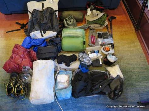 section hiker gear list appalachian trail section hike gear list 2016 nobo