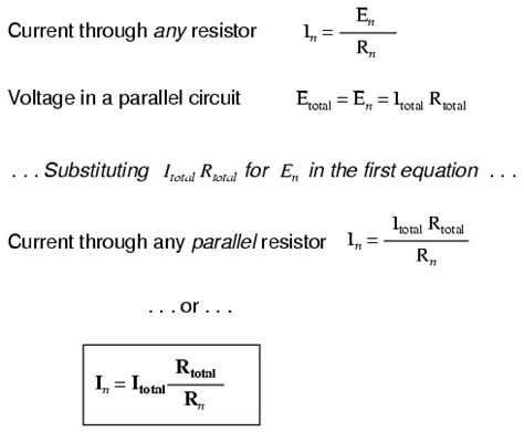 equation for resistors in parallel current divider circuits divider circuits and kirchhoff s laws electronics textbook
