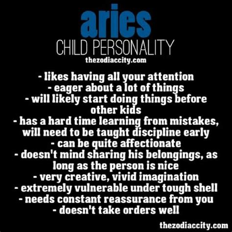 aries child personality zodiac pinterest kid the o