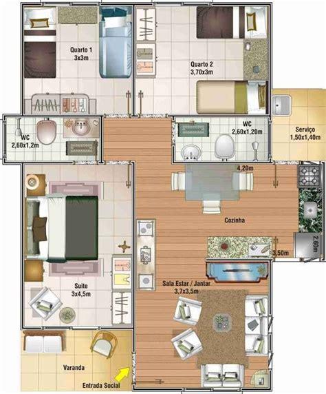 cuanto sale 80metros cuadrados de contrucion casa planos de casas peque 241 as de un piso con tres dormitorios