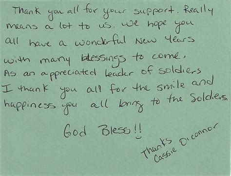 thank you letter to a soldier sle soldiers speak forgotten soldiers outreach non profit