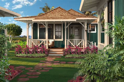Kukuiula Plantation House Luxury Hawaiian Homes Kukui Polynesian House Plans