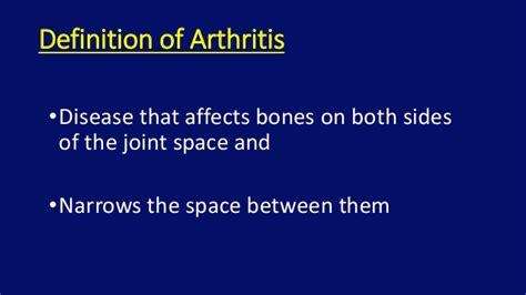 résumé definition xray imaging in non inflammatory arthritis