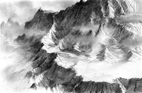 Sketches Mountains by Mountain Range Sketch By Daandric On Deviantart