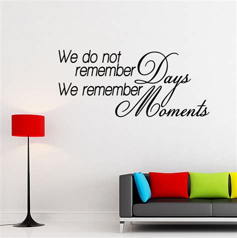 inspirational quotes wall stickers we remember moments vinyl wall quote decal inspirational saying wall sticker ebay