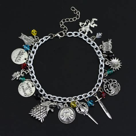 of thrones charm bracelet the house banners 7 kingdom