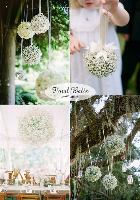 Wedding Flowers: 40 Ideas to Use Baby?s Breath   Outdoor