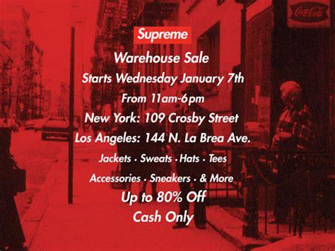 supreme sale supreme warehouse sale hypebeast