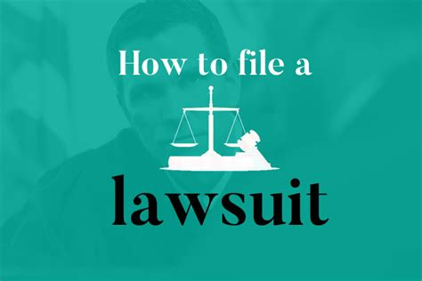 Or Lawsuit How To File A Lawsuit With Or Without A Lawyer