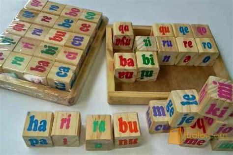 Mainan Anak Edukatif Kubus Suku Kata perlengkapan anak murah balok suku kata magelang jualo