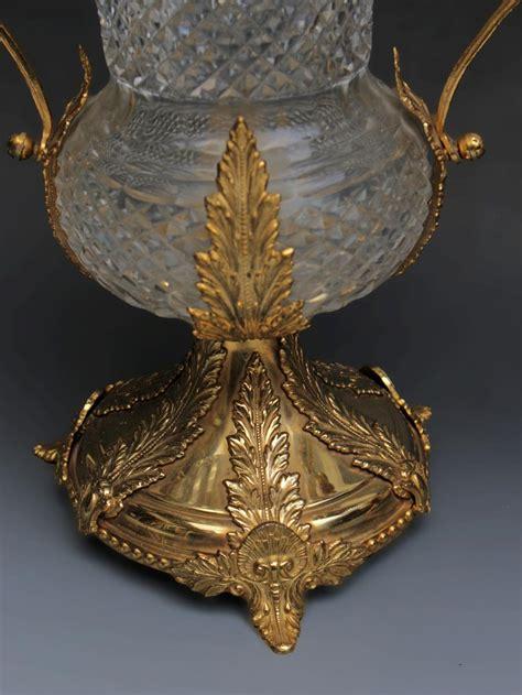 vasi di cristallo coppia di vasi di cristallo e di bronzo galerie tramway