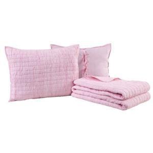 light pink quilt set light pink wavy handcrafted ruffle quilt set 69 99