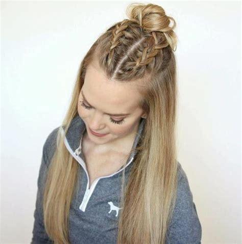 hairstyles half up bun 20 ideas how to spice up your half bun
