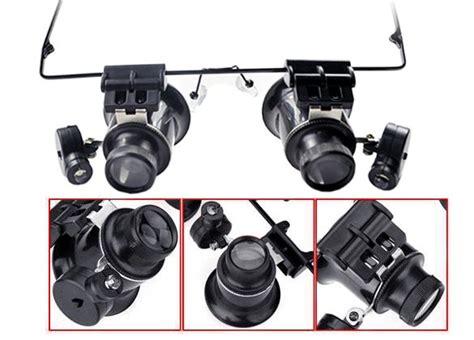 Kacamata Service Pembesar Object kacamata mikroskop mikroskop batu akik dengan 20x perbesaran harga jual