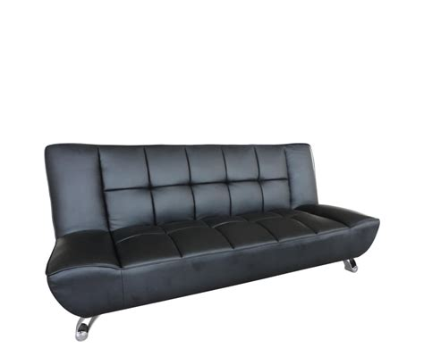 Clic Clac Sofa Bed Uk by Vogue 110cm Black Faux Leather Clic Clac Sofa Bed