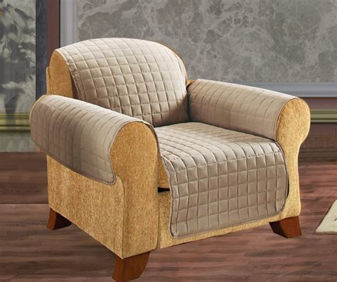 elegant comfort reversible quilted chair cover cream
