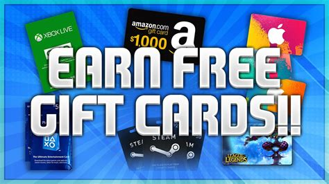 How To Get A Gift Card For Free - how to get free xbox live psn gift cards free itunes amazon steam lol gift codes