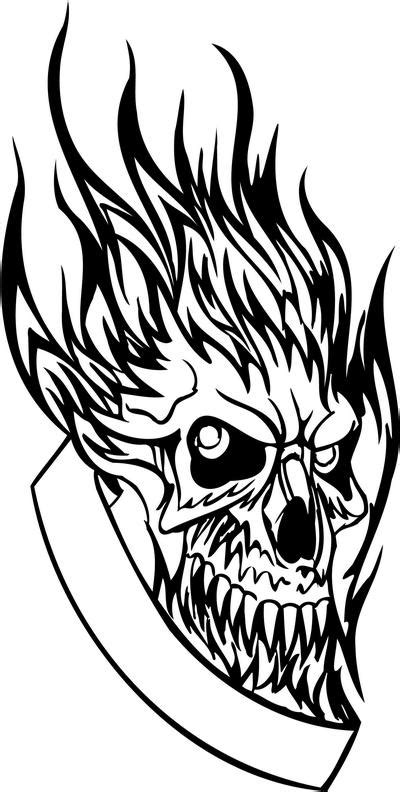 flaming skull coloring page flaming skull coloring pages