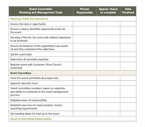 event planning checklist template free event order template 12 free excel pdf documents