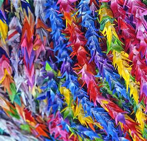 How Many Paper Cranes Did Sadako Make - one thousand origami cranes