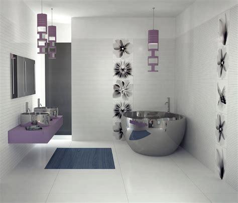 purple bathroom decorating ideas pictures the purple modern bathroom design from viva ceramica