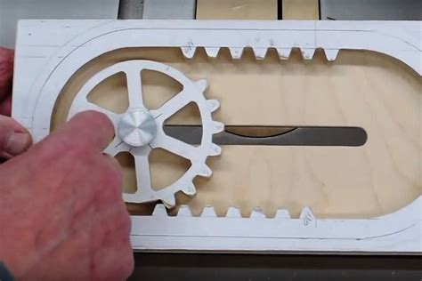 Simple Design Program how it s made a wooden reciprocating rack and pinion make