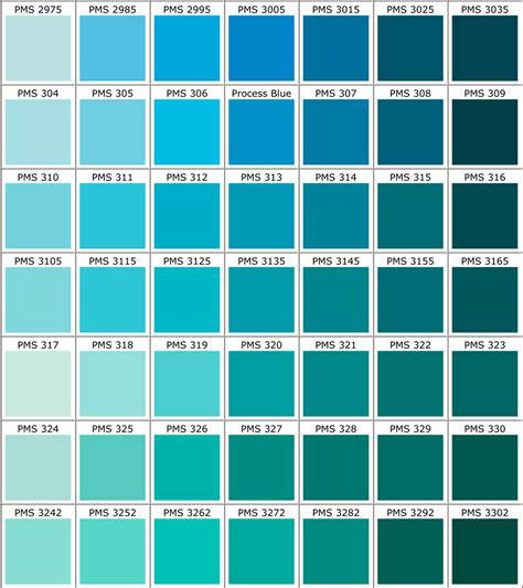 what color is teal blue pantone color guide for apparel printing racer ink