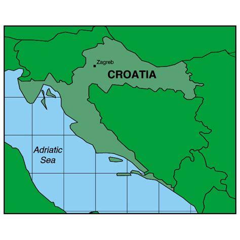 croatia map vector croatia regional vector map at vectorportal