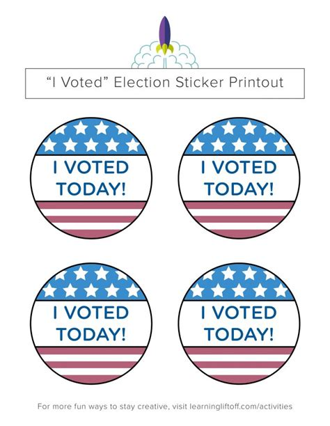 printable voting stickers voting printables for kids learning liftoff