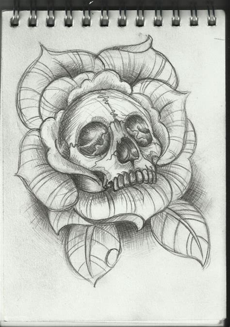 skull and rose tattoos tumblr skull and roses on