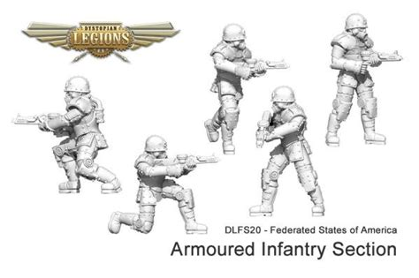 infantry section spartan games dystopian legions federated states of