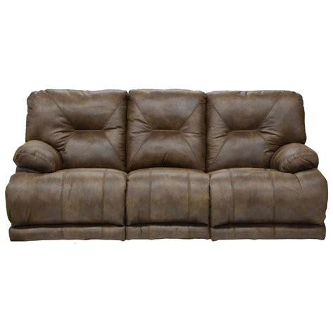 lay flat reclining sofa catnapper voyager 43845 3 seat quot lay flat quot reclining sofa