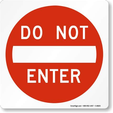 Sign On A Door do not enter sign magnetic door sign sku s 8825