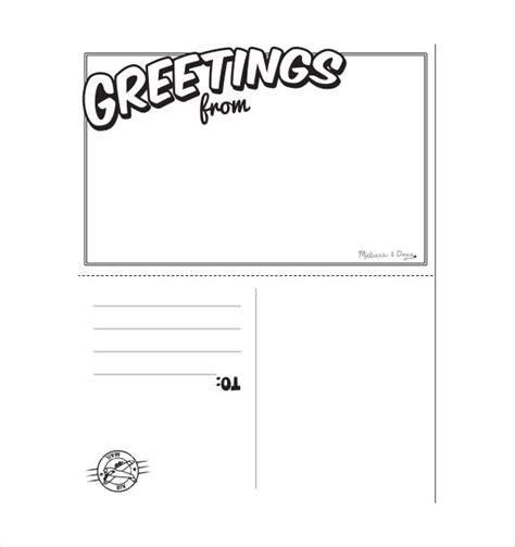 free australian card templates 20 postcard templates for free sle exle