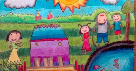 karya  hasil karya seni lukisan anak anak sd