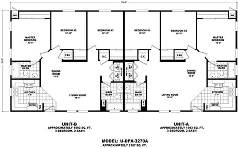 South Carolina House Plans duplex series durango homes built by cavco