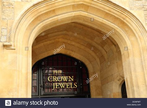 the jewel house entrance to the jewel house at the tower of london where the crown stock photo royalty free