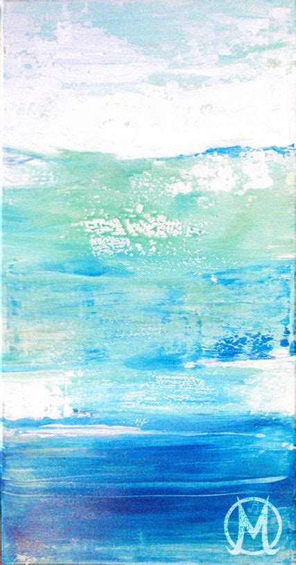 ocean blue paint abstract art ocean colors blue seafoam painting melody