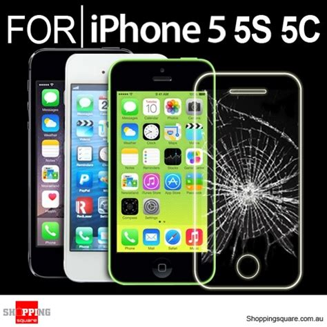 Mount Reality For Iphone 5 5s 5c Se Black for iphone se 5 5s 5c premium real tempered glass screen protector shopping