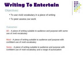 How To Entertain by Writing To Entertain