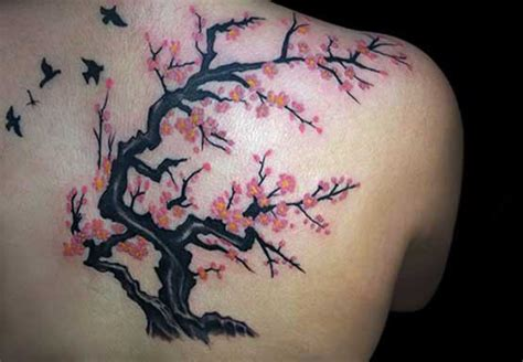 great cherry blossom tree tattoo designs full tattoo