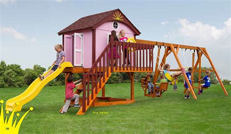 amish swing sets vinyl wooden swingsets amish playsets nj