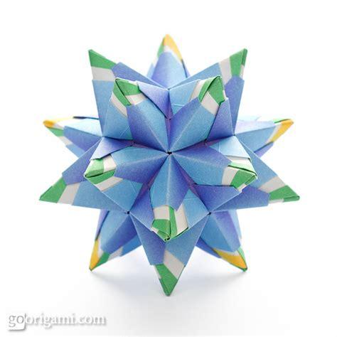 modular origami kusudama chandelle kusudama by sinayskaya diagram