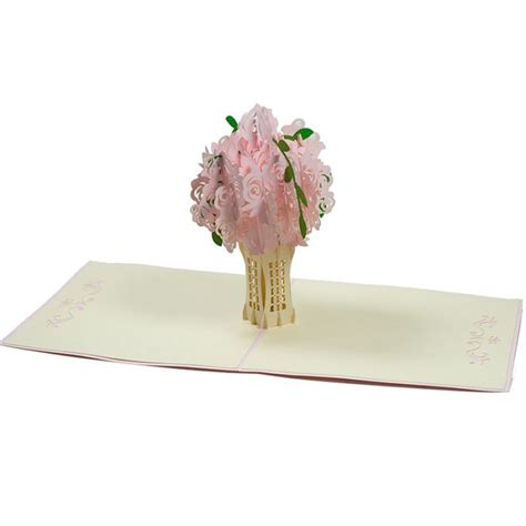 Origami Flower Pop Up Card - bouquet pop up card flower pop up card s