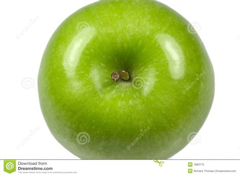 Apple Top green apple macro top royalty free stock photo image