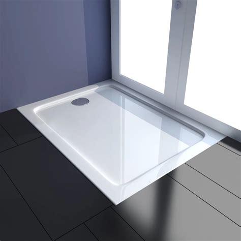 vidaxl co uk rectangular abs shower base tray 80 x 100 cm - Bettdecke 80 X 100