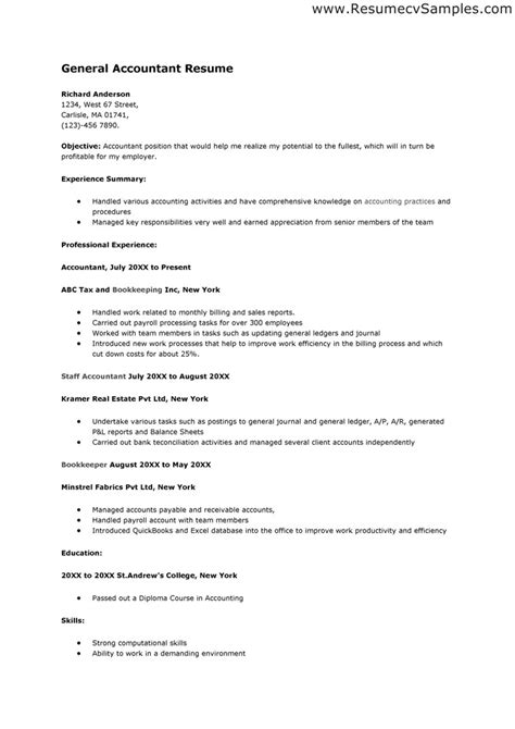 Resume Skills Accounting Resume Skills Berathen